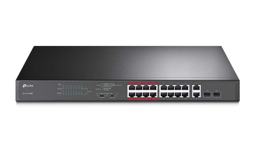 16-portový PoE switch TL‑SL1218MP