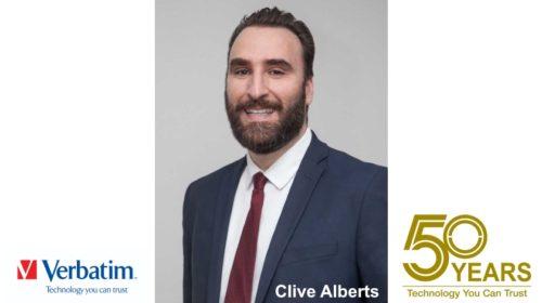 Prezident společnosti Verbatim: Clive Alberts