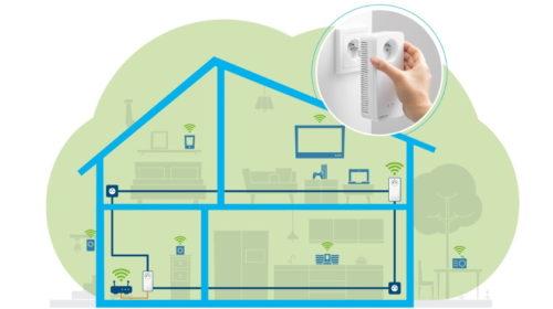 Internet a WiFi i v problematických místech budovy pomocí elektrických rozvodů