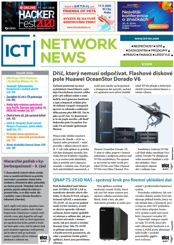 ICT NETWORK NEWS 9-2020 cover