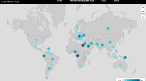 Mapa narušení internetového provozu