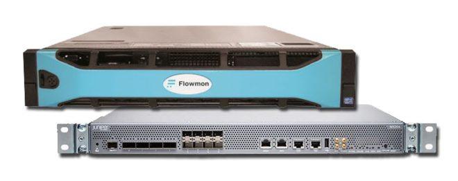 Kolektor od společnosti Flowmon Networks a univerzální router MX204 od společnosti Juniper Networks