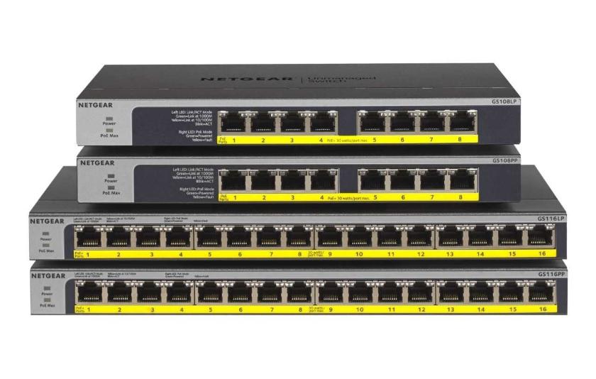 NETGEAR GS108LP-PP a GS116LP-PP